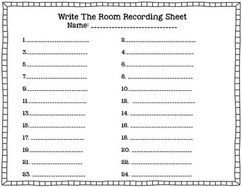 Bright Sight Words Write the Room Fry Words
