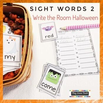 Sight Words Write the Room Halloween