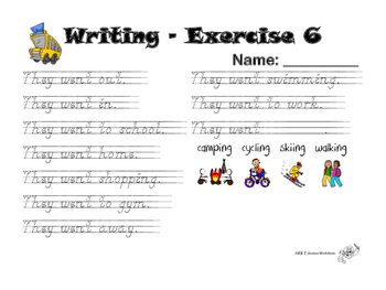 Sight Words Writing - Kindergarten