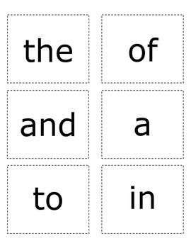 Sight Words- Yellow List