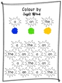 Sight Words (a / an / the) - Colour by Sight Word