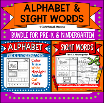 Sight Words and Alphabet Bundle