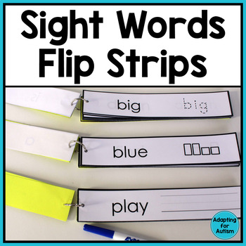 Sight Words and CVC Words - Word Work Task BUNDLE for Special Education
