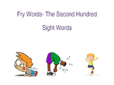 Sight Words and Exercise- The Second 100 Words Fry list