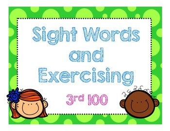 Sight Words and Exercising