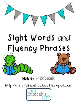 Sight Words and Fluency Phrases