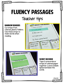 sight word fluency passages pdf