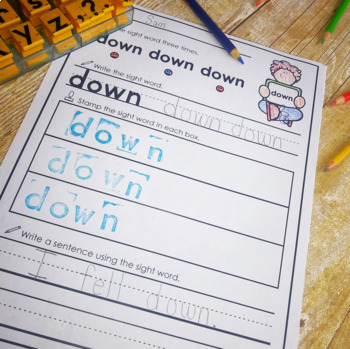 Sight Words and Name Writing- Common Core