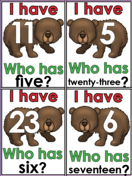 Sight Words and Number Words -I Have Who Has Games- The Bundle