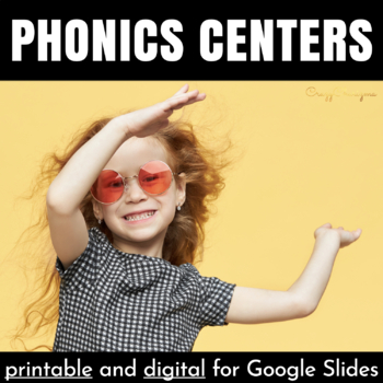 Phonics Centers for Kindergarten and First Grade (CVC words, word families)