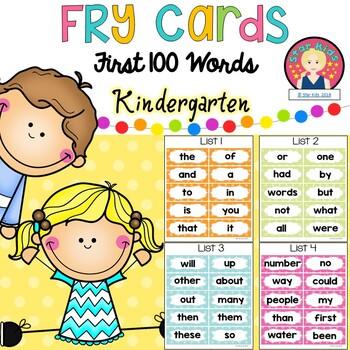 Fry Sight Words for Kindergarten