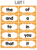Sight Words and Word Wall Cards for Kindergarten