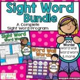 Kindergarten Sight Word Bundle, Activities, Word Work, Word Wall Cards