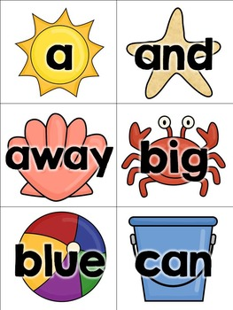 Sight Words at the Beach {pre-primer}
