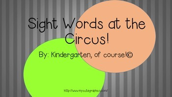 Sight Words at the Circus!