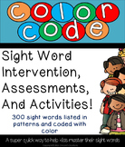 Sight word Color Code Intervention 1-300