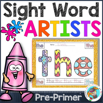 Sight Words Coloring Pages Pre Primer Edition