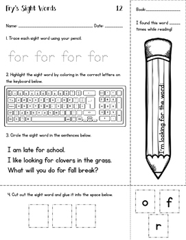 Sight Words for Big Kids - Fry 11-50