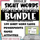 Sight Words for ESL and Big Kids BUNDLE | Print and Digital