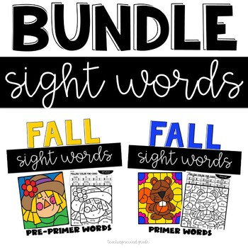 Sight Words for Fall | Pre-Primer and Primer Words