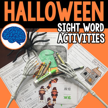 Sight Words for Halloween (Sight Word Sentences, Color by Sight Word, Center)