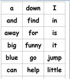 Sight Words for Interactive Word Wall