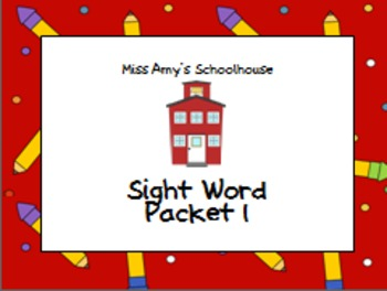 Sight Words for K and 1st!