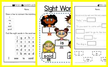 Sight Words for Kindergardeners!