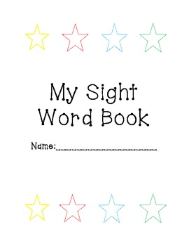 Sight Words for Kindergarten/First Grade
