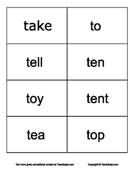 "Sight Words for Learning how to Read.    Letters ""T"" Sight Words."
