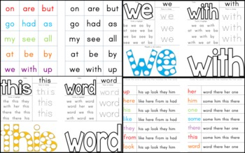 Sight Words for Pre-K and Kindergarten (Part Two)