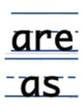 Sight Words for TK and Kinder Half Page Cards