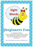 Sight Words for Word Wall QBeginners Font