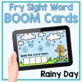 Sight Words for a Rainy Day - Spring Boom Cards