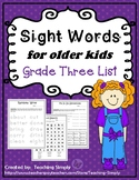 Sight Words for Big Kids Grade 3