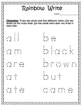 Sight Words for big kids - Dolch Primer List