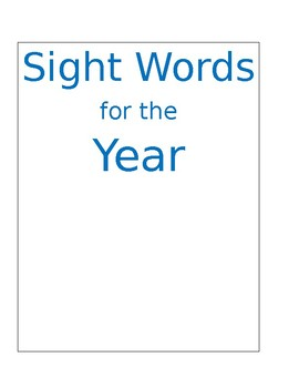 Sight Words for the Year