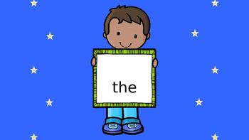 Sight Words from Journeys Kindergarten Reading Curriculum