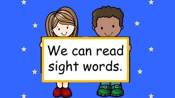 Sight Words from Journeys Kindergarten Reading Curriculum PowerPoint Bundle
