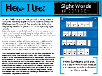 Sight Words in Context