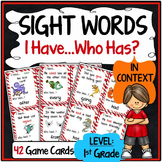 1st Grade Sight Word Practice {Sight Word Game - I Have, Who Has Format}