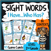 2nd Grade Sight Word Practice {Sight Word Game - I Have, Who Has Format}