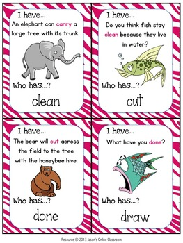 3rd Grade Sight Word Practice {Sight Word Game - I Have, Who Has Format}