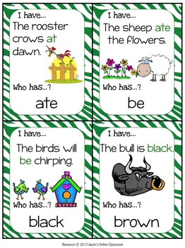 Primer Sight Word Practice {Sight Word Game - I Have, Who Has Format}