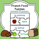 Sight Words in French Food Vocabulary Game Puzzles Fruits Vegetables Meat Dairy