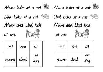 Sight Words in Sentences Queensland Font