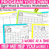 Sight Words intervention ~ Editable!  Help Me! Help You!