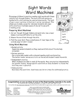 Sight Words (number words/direction words)