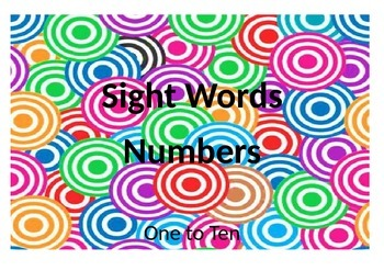 Sight Words numbers