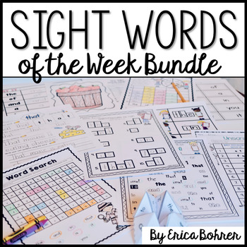 Sight Words of the Week & All the Extras Bundle: Fry's First 300 Words